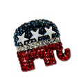 Wow. How about the Bling on this Pin! Red, White and Blue Crystals with White Enamel Stars.