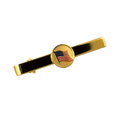 Goldplated tie bar with American flag logo