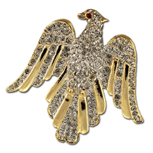 This beautiful Eagle Brooch/Pin includes goldplate and crystals.