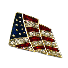 "This 1"" red, white and blue enamel lapel pin is a perfect way to show your love of country."