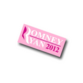 "1"" Pink Romney/Ryan Lapel Pin."