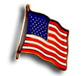 American flag enamel lapel pin.