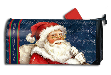 Warmly welcome all your guests with this Christmas magnetic mailbox cover, which snaps into place using 2 strong magnetic strips. Designed to fit standard metal mailbox 6 1/2 wide x 19 deep.