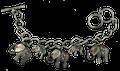 Pewter Tones Elephant Bracelet