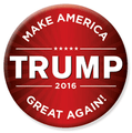 "Trump 2016 button pin - ""make America Great Again"". Size: 2.25"""