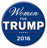Women for TRUMP 2016 Button