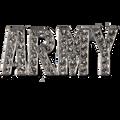 Support the Army! Diamond like Swarovski crystal, silver-plate brooch/pin.
