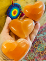 Selenite Heart Orange