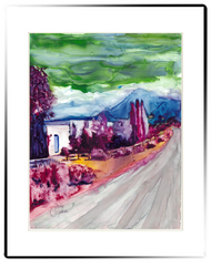 Small Matted Print | Country Road