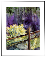 Small Matted Print | Fence Hugger