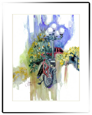 Small Matted Print | Bike Ride