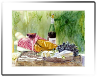 Small Matted Print | French Picnic