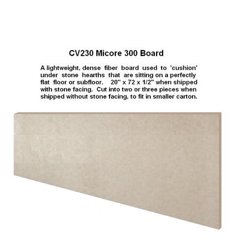 Micore Board to cushion under your hearth