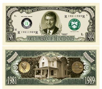 Ronald Reagan 1 Million Dollar Bill