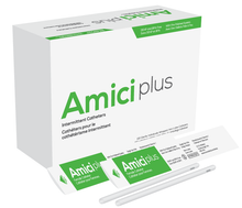 Amici Plus Female Intermittent Catheter with Smooth Low-Profile Eyelets - 14 French, Box of 100