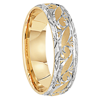 6 mm 14kt. Gold Handcrafted in U.S. - Struga
