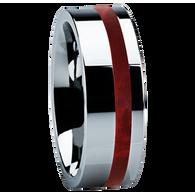 8 mm Unique Titanium Wedding Band with Box Elder Burl Inlay - B122M-BEBurl