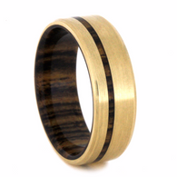 7 mm - 14 kt. Yellow Gold & Bocote Wood Inlay - YG218M