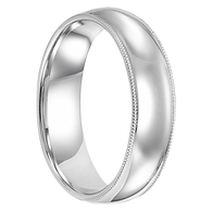 6 mm 14kt. White Gold Handcrafted - Princeton 14