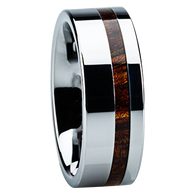 Your custom made ring will not look exactly like the ring pictured in that each ring is handmade from scratch using a unique wood inlay - no two rings will ever look alike! These are rare, collectible rings and as such are NOT covered under our Lifetime Warranties.