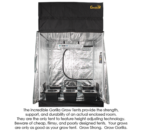 The Supercloset 5 X 5 Led Superroom Grow Tent Is An All