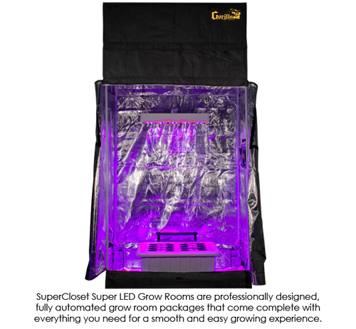 SuperCloset SuperRoom 2u0027 x 4u0027 LED ...  sc 1 st  Planet Earth Garden Supply & The SuperCloset 2u0027 x 4u0027 LED SuperRoom Grow Tent is an all-in-one ...