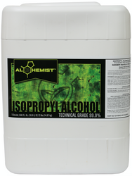 Alchemist Isopropyl Alcohol 99.9% (5 Gallon bottles) by the Pallet in Bulk     FREE SHIPPING (704563) UPC 20849969023507