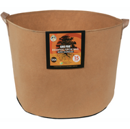 Gro Pro Essential Round Fabric Pot with handles (15 Gallon) Tan in Bulk (725103) UPC 20849969022357