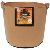 Gro Pro Essential Round Fabric Pot with handles (7 Gallon) Tan in Bulk (725099) UPC 20849969022333