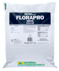 General Hydroponics FloraPro Grow Soluble (25 pound bags) in Bulk (718006) UPC 10793094100530