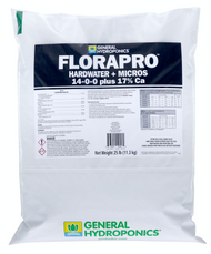 General Hydroponics FloraPro Hardwater + Micros Soluble (25 pounds bags) in Bulk (718009) UPC 20793094100568