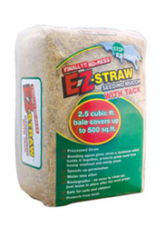 Rhino Seed EZ Straw Mulch with Tack (2.5 cubic foot bales) in Bulk (81400004 UPC 615158000026