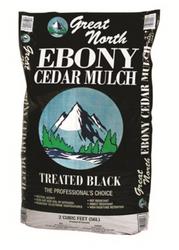 Ameriscape Northern Cedar Mulch - Black Ebony (2 cubic foot bags) in Bulk (AMSNCM2B) UPC 096821555577