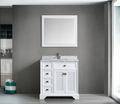 Boston 36 Traditional Bathroom Vanity Set – White