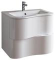 Cambria 25 3/8 White Modern Wall Mount Bathroom Vanity Set