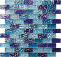 Alttoglass River Blue Blend Brick 1x2