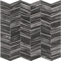 Porcelain Tile Chevron Series. Black