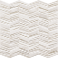 Porcelain Tile Chevron Series. White