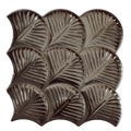 Porcelain Tile Scale Shell Series. Anthracite