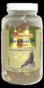 Great Maple High Potency(1000mg) OMEGA-3 100% Arctic Harp Seal Oil 188 softgels( 加拿大Great Maple 高含量(1000mg) 100% Arctic Harp OMEGA-3 海豹油 188粒入)