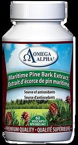 Omega Alpha  Maritime Pine Bark Extract Anti Hypertenstion  60 Capsules(加拿大 Omega Alpha  降压灵  滨海松树皮提取物  60粒入)