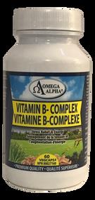 Omega Alpha  Complex Vitamin B  60 Capsules(加拿大 Omega Alpha 维他命B群  60粒入)