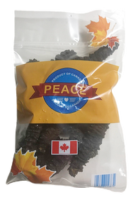 PEACE PAVILION Dried Arctic Wild Stichopus Japonica Bag Package( 1 lb) 454g(with Ribs/Belt Bandage)(加拿大 PEACE PAVILION 北极野刺參-帶筋(一磅袋裝) 454g)