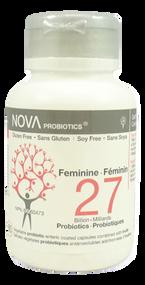 NOVA PROBIOTICS Multi-Strain FEMININE 27 Billion Probiotics per Capsule -60 Vcaps(加拿大 NOVA PROBIOTICS 多菌株-女性健康270亿益生菌-60粒入)