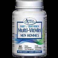 Omega Alpha Daily Multi-VitMin™-Multi-vitamin and multi-mineral supplement-60 Caps (Men)