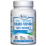 Omega Alpha Daily Multi-VitMin™-Multi-vitamin and multi-mineral supplement-60 Caps (Men 50+)