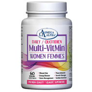 Omega Alpha Daily Multi-VitMin™-Multi-vitamin and multi-mineral supplement-60 Caps (Women)