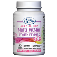 Omega Alpha Daily Multi-VitMin™-Multi-vitamin and multi-mineral supplement-60 Caps (Women 50+)