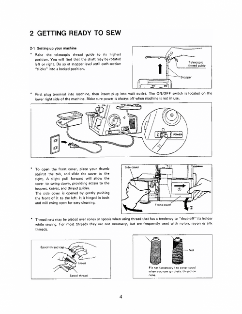 Babylock Bl5360ed Overlocker Pdf Instruction Manual
