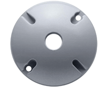 RAB Lighting Round Electrical Box Cover - Silver-Gray